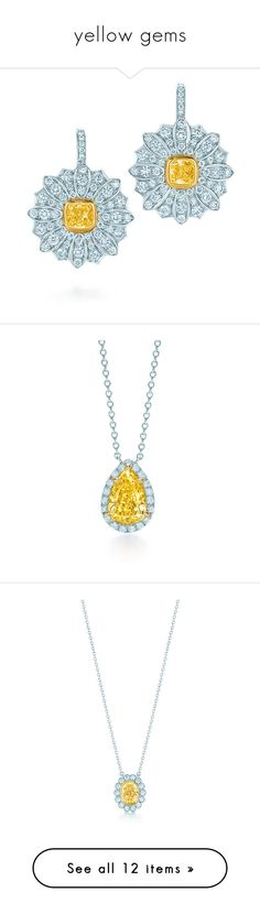"""""""yellow gems"""" by tonydaughterstory ❤ liked on Polyvore featuring jewelry, earrings, 18k earrings, 18 karat gold jewelry, daisy jewelry, tiffany co jewelry, 18 karat gold earrings, pendants, yellow diamond pendant jewelry and 18k pendant"""