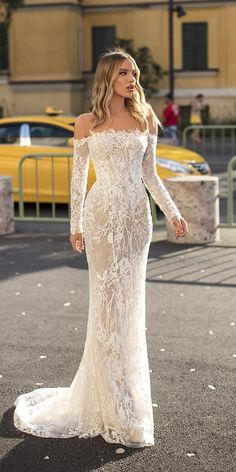 30 Stunning Long Sleeve Wedding Dresses For Brides - - Fantastic long sleeve wedding dresses for all occasions in your life. You must see them and find here the most one you like. We want to make you happy! Off Shoulder Wedding Dress, Long Sleeve Wedding, Wedding Dress Sleeves, Lace Sleeves, Dresses Short, Long Wedding Dresses, Long Sleeve Bridal Dresses, Long Sleeve Gown, Stunning Wedding Dresses