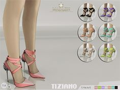 The Sims Resource: Madlen Tiziano Shoes by MJ95 • Sims 4 Downloads