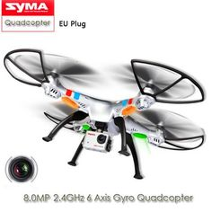 SYMA X8G Headless Mode 2.4G 4.5 Channel Remote Control Quadcopter with HD 8.0MP Camera 6 Axis Gyro 3D Roll Stumbling UFO-112.22 | GearBest.com