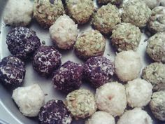 Keto balls   8 oz cream cheese softened 1 stick 1/2 cup butter softened 12 drops ezsweetz 1 tablespoon torani vanilla syrup 1/2 teaspoon vanilla  for rolling balls in chopped nuts (I used macadamias and pistachios) chopped chocolate (half a chocoperfection bar)