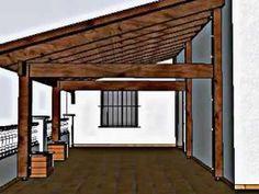 Pergola For Front Of House Casa Patio, Backyard Pavilion, Patio Roof, Backyard Patio, Deck Design, House Design, Outdoor Spaces, Outdoor Living, Covered Patio Design