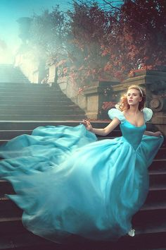 Annie Leibovitz Disney Dream Portrait with Scarlett Johansson as Cinderella pinned with #Bazaart - www.bazaart.me