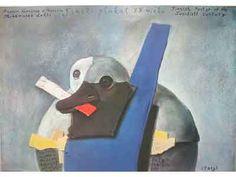 Projeckty I Plakaty. Kunstenaar Stasys Eidrigevicius. Uitgegeven in 1988. Afmeting poster : 94 x 67