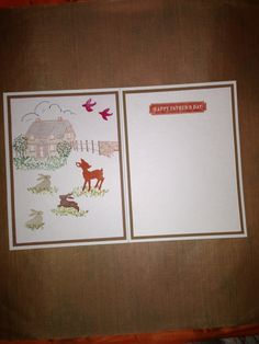 Inside the country house themed Father's Day card.