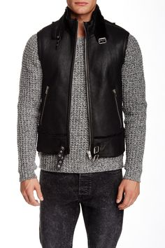 The Kooples - Buckled Leather Vest at Nordstrom Rack. Free Shipping on orders over $100.