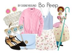"""""""Bo Peep"""" by leslieakay ❤ liked on Polyvore featuring MANGO, RED Valentino, J.Crew, New Look, Accessorize, Kate Spade, disney and disneybound"""