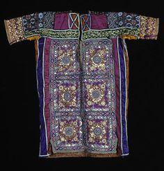 Africa | Marriage tunic from Tunisia | 20th century | Silk, cotton, metallic threads, mirrors
