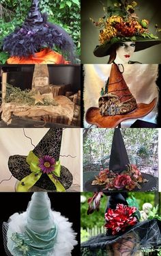 Really exciting for my black Queen of the Night/witch hat to be included in The Original Black Hat Society treasury compiled by TheBohemianGoddess.
