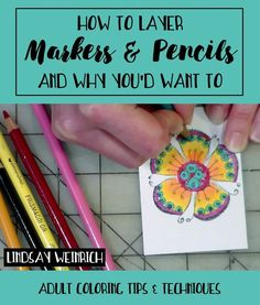 How to Layer Markers & Colored Pencils (And Why You'd Want to) Adult Coloring Techniques & Tips Coloring Tips, Adult Coloring Pages, Coloring Books, Coloring Stuff, Free Coloring, Pencil Drawing Tutorials, Pencil Drawings, Drawing Ideas, Drawing Tips