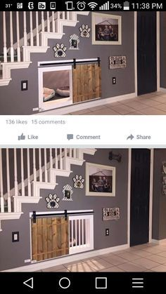 Dog room under the stairs!