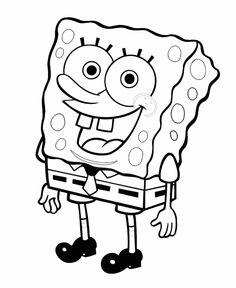 Happy Spongebob Coloring Pages