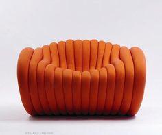 """Fauteuil """"Bob"""" Matériau:felto (tissu 3D) Designer:Gijs Kaayk Partenaire:Hybrids+Fusion"""