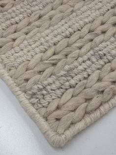 Soft, chunky knit textured rug; Alpine - Haze by Bayliss.  Come in to M&M's Rug Shop to see and feel this cosy wool rug.
