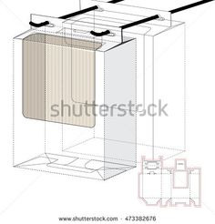 Shelf Box with Window and Die Cut Layout