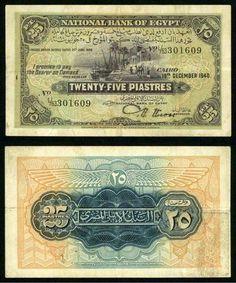 Egypt 25 Piastres Banknote