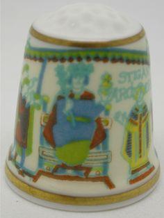 Sutherland thimble. Tapestry. Thimble-Dedal-Fingerhut.