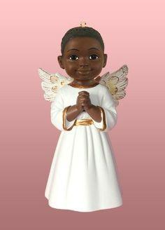 Angel Ornament - Prayer boy in white