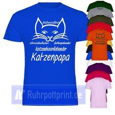 Katzenpapa Shirt für Katzenliebhaber mit Deinen Wunschfarben | eBay