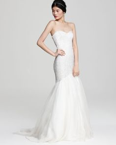 I would buy this. Sequined body, light, and perfect for formal OR beach wedding.