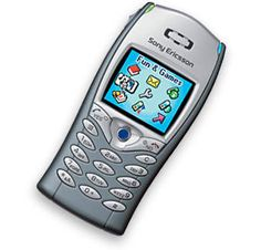 The first colour screen phone I owned from way back - the Ericsson T68.   By today's standards, it is a terrible display, but then, it was huge news.
