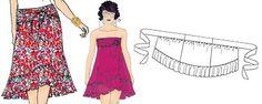 Rock oder Kleid 2in1 nähen - Cabriolet skirt-dress
