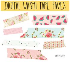 FREE DOWNLOAD - digital washi tape faves, perfect for party invitations, graphic design