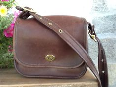 COACH Vintage British Tan Cross Body or Shoulder Bag C7C 3965 Rare Made in USA #Coach #MessengerCrossBody