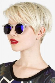 like how the bangs are part of the 'burns and no extra hair is making the sides of the head look poofy #pixie