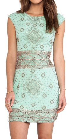 Mint beaded dress, not a fan of the over all dress color wish it was a shade of bronze. LOVE the dress though