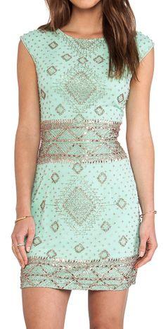 Mint beaded dress