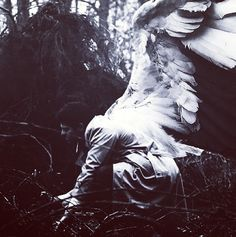 Beautiful manip of Castiel! I wish they would show his wings like this. Gorgeous.