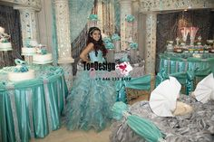 2017 New Sequined Beaded Sweet 15 Ball Gown White and Blue Satin Organza Prom Dress Gown Vestidos De 15 Anos