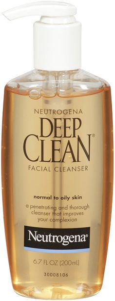Wash away face-dulling dirt and impurities with Neutrogena Deep Clean Facial Cleanser for Normal to Oily Skin. Deep Clean Face Wash, Cream For Oily Skin, Skincare Dupes, Oily Skin Care, Neutrogena, Face Cleanser, Deep Cleaning, Facial, Acne Treatments