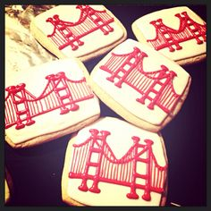 San Francisco Cookies Golden Gate Bridge