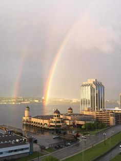 Double rainbow over Downtown Halifax Atlantic Canada, Through Time And Space, Prince Edward Island, New Brunswick, The Province, Newfoundland, Nova Scotia, Far Away, East Coast