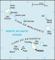 Cape Verde Island country information Verde Island Verdean escudo Cape Verde Map, Geo Magazin, African Words, African Holidays, Country Information, Flora Und Fauna, Verde Island, Country Maps, Vacation Places