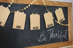 DIY Family Gratitude Garland. A sweet family tradition you'll want to start this year.