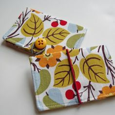 Credit card holder (wonder if this can be modified to make an iPad case?)