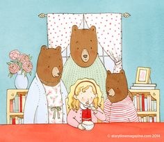 Goldilocks and the Three Bears –  a Favourite Fairy Tale beautifully illustrated by http://www.brookeboyntonhughes.com/