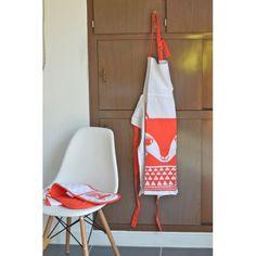 Tablier Renard rouge Jane Foster - deco-graphic.com