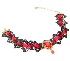 Checkout our #arrascreations product Vintage Gothic Lace Collar Choker Pendant Necklace / AZVGNEA54-BRD. Buy now at http://www.arrascreations.com/vintage-gothic-lace-collar-choker-pendant-necklace-azvgnea54-brd.html