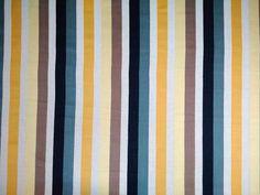 Malabar Cotton Stripe Fabric Mustard Citrus Natural Black Grey - The Millshop Online #fabric #curtains