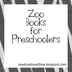 zoo activities for preschool, zoo books
