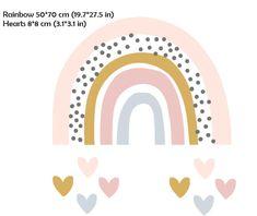 Rainbow Art, Rainbow Colors, Rainbow Logo, Rainbow Nursery, Rainbow Wall Decal, Kids Room Wall Decals, Watercolor Stickers, Diy Baby Gifts, Rainbow Aesthetic