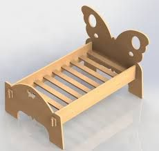 Woodworking Projects For Kids Childrens Butterfly Bed – Vector Drawing DXF For Cutting CNC or Router Laser 051