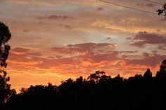 A hot summer night sunset