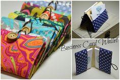 Blue Kangaroo Handmade: Business Card Wallet / Peněženka na vizitky