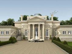 Villa Capri House Plan - Classical - Front