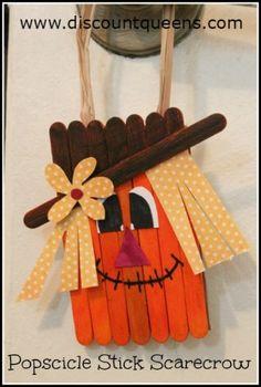 Popsicle Stick Scarecrow Craft Photo